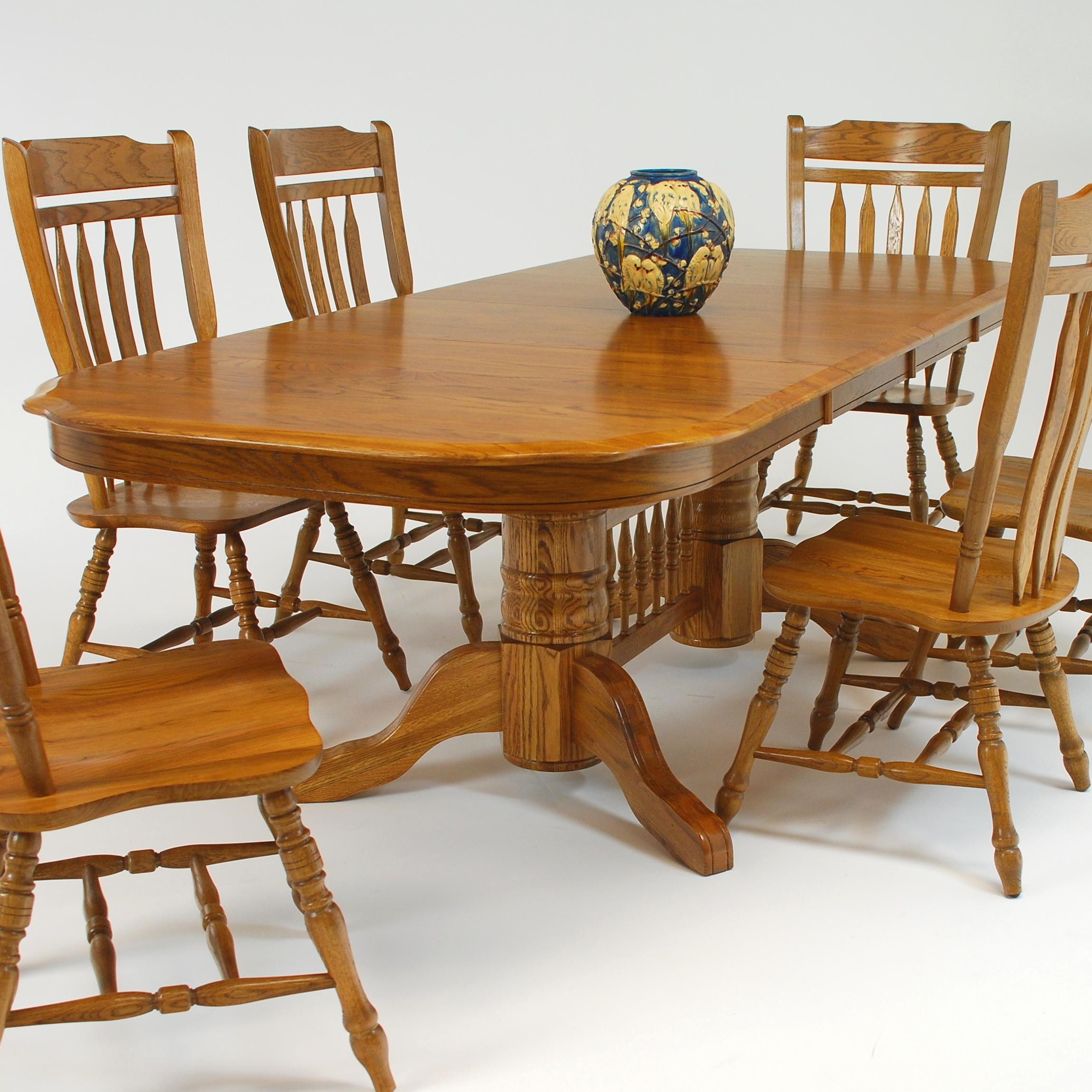 "Rectangular Dining Table with 18"" Leaf"