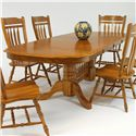 """GS Furniture Classic Oak Rectangular Dining Table with 18"""" Leaf - Item Number: CL2B429631CH+CL2T429631CH"""