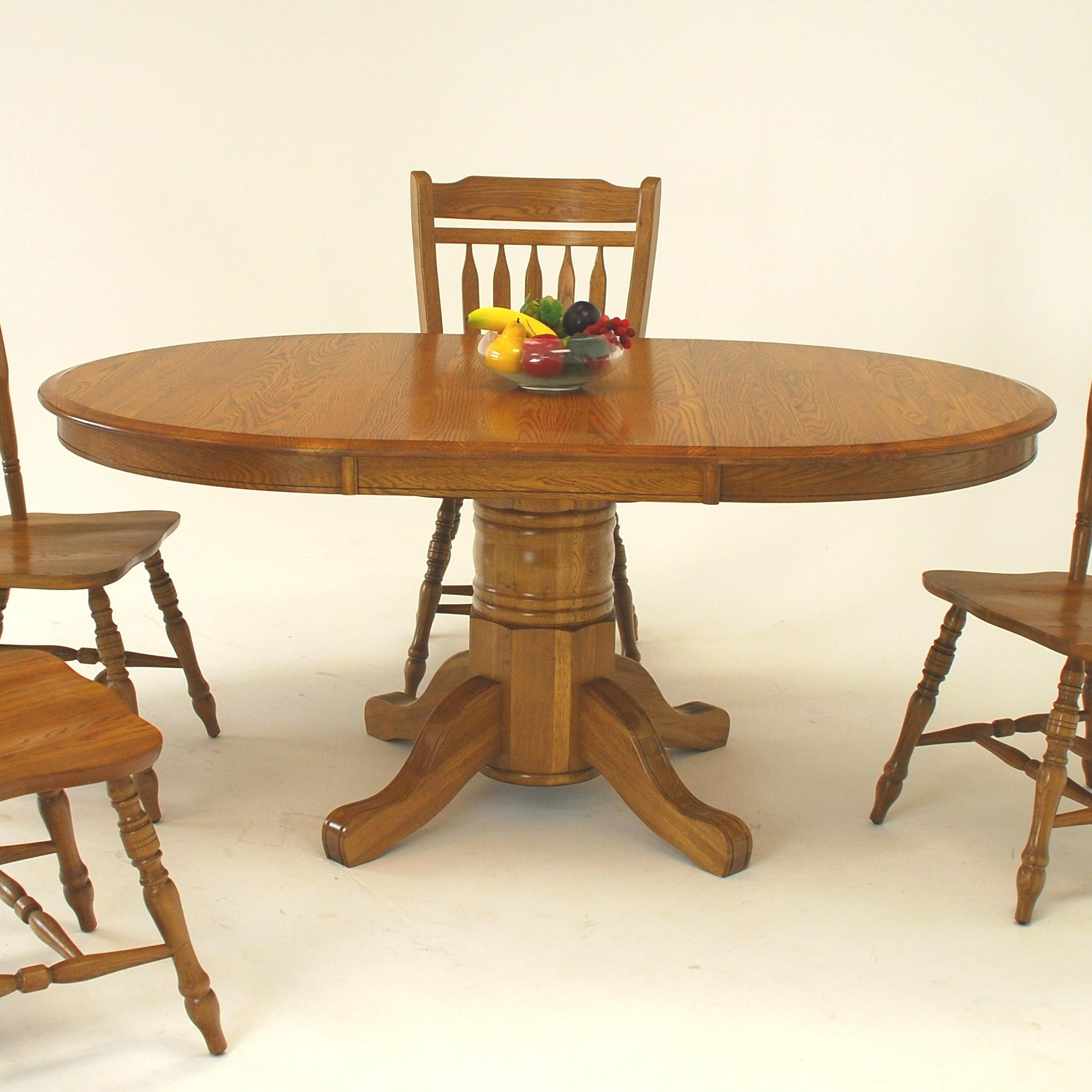 """Oval Dining Table with 21"""" Leaf"""