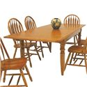"GS Furniture Classic Oak Rectangular Dining Table with Two 15"" Leaves - Item Number: CL2C429641CH"