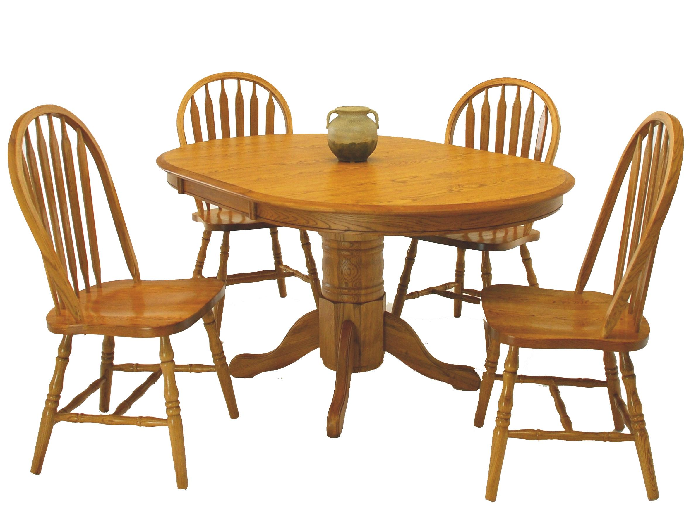 5-Piece Round Table & Side Chair Set