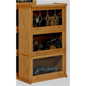 GS Furniture American Classic 3 Stack Lawyers Bookcase