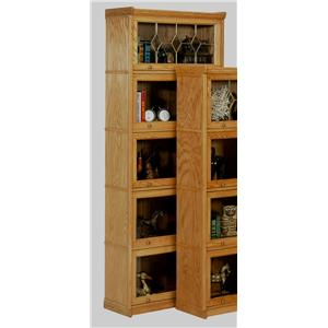 GS Furniture American Classic 5 Stack Lawyers Bookcase