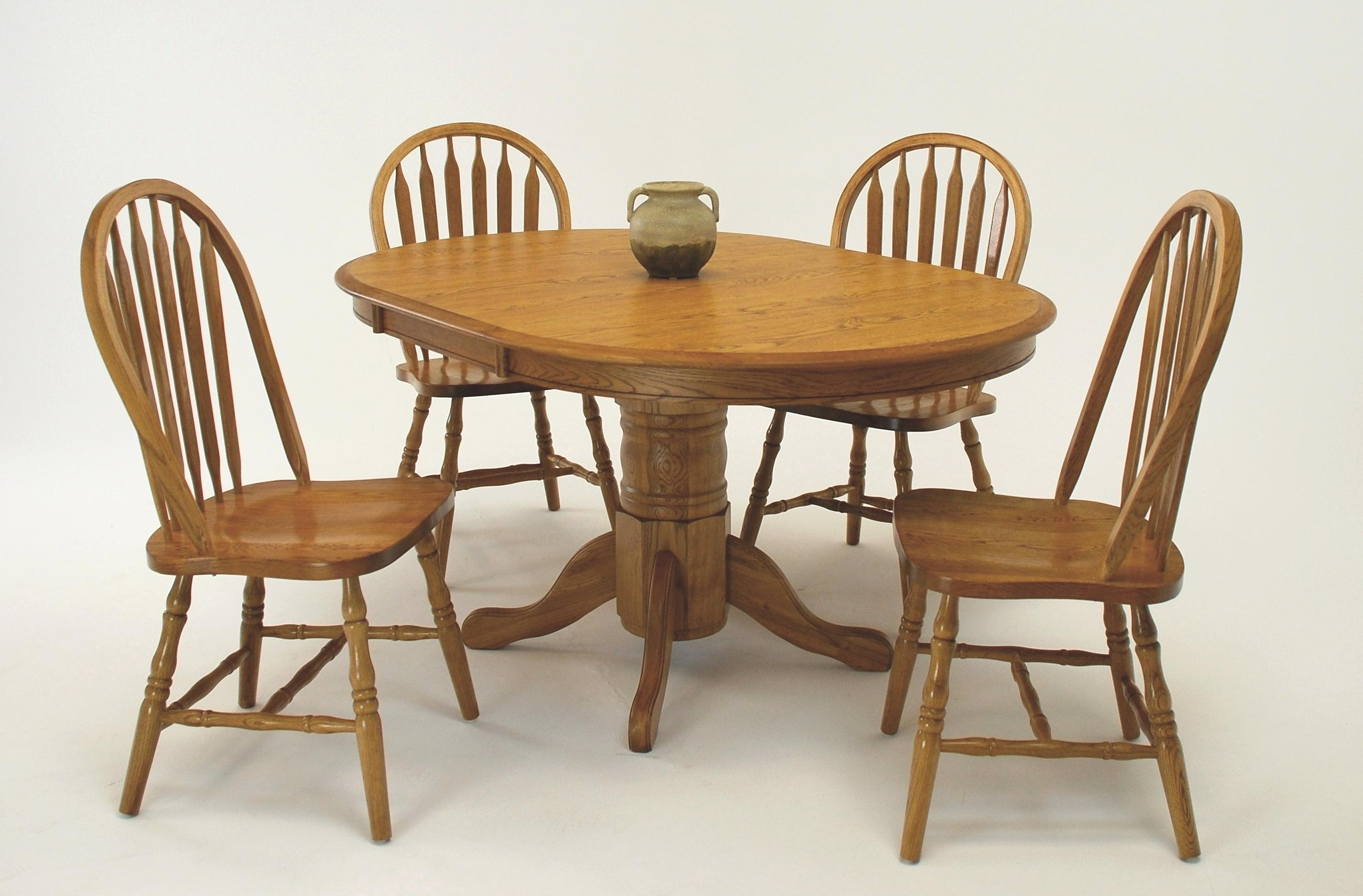 5-Piece Oval Table & Side Chair Set