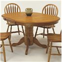 "GS Furniture Classic Oak Oval Dining Table with 18"" Leaf - Item Number: EW2B426014CH+EW2T426014CH"