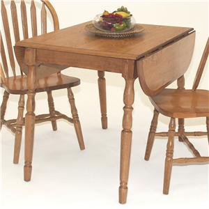 """GS Furniture American Classic Dropleaf Table with Two 9"""" Leaves"""