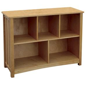 Guidecraft Mission Mission Bookcase w/ 5 Compartments