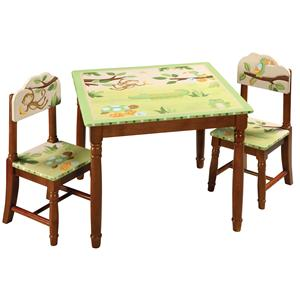 Guidecraft Papagayo 3 Piece Child's Table and Chair Set