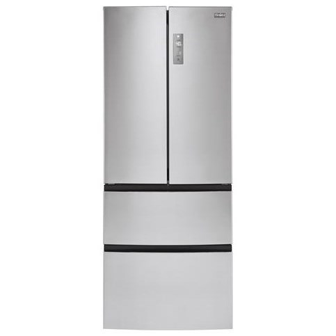 Haier Appliances Bottom-Freezer Refrigerators - Haier 15-Cu.-Ft. French-Door Refrigerator - Item Number: HRF15N3AGS