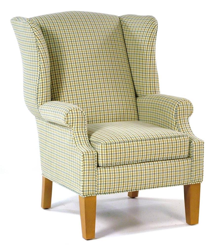 Hallagan Furniture Hamilton Wing Accent Chair - Item Number: 504-C-SQ9