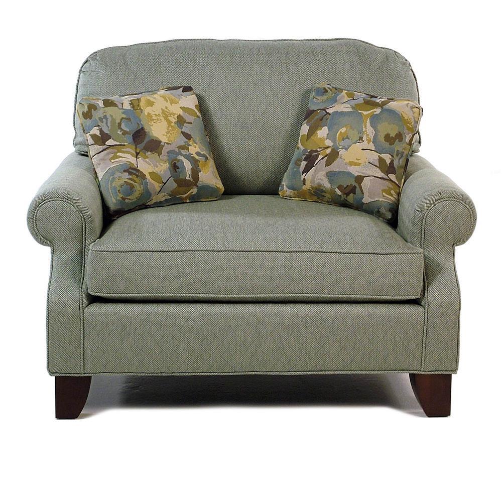 hallagan furniture madison chair and-a-half - rotmans - chair & a