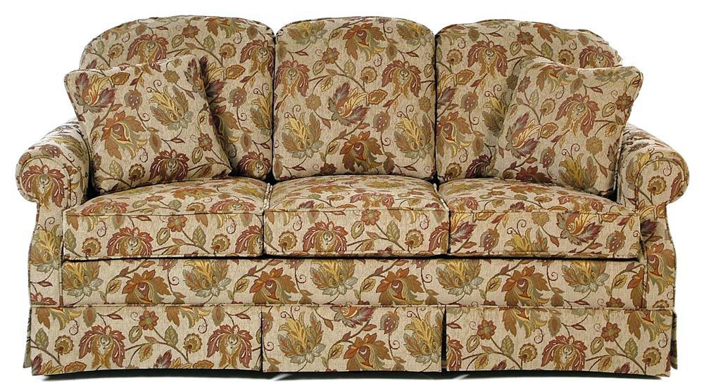 Hallagan Furniture Seneca Skirted Sofa   Item Number: 855 D KP