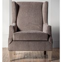 Hallagan Furniture Accent Chairs Customizable Wing Back Accent Chair - Item Number: 280C-SQ7 C9148