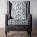 Hallagan Furniture Accent Chairs Customizable Wing Chair - Item Number: 290C-SQ6 4119-8889