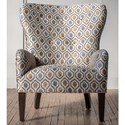 Hallagan Furniture Accent Chairs Customizable Curved Back Accent Chair - Item Number: 380C-SQ10 4159