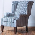 Hallagan Furniture Accent Chairs Customizable Wing Back Accent Chair - Item Number: 504C-SQ9 6977
