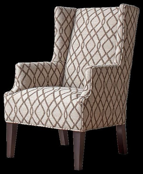 Accent Chairs Customizable Wing Back Accent Chair at Bennett's Furniture and Mattresses