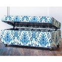 Hallagan Furniture Accent Ottomans - Hallagan Customizable Storage Ottoman - Item Number: 4020-SO-HBC 6787