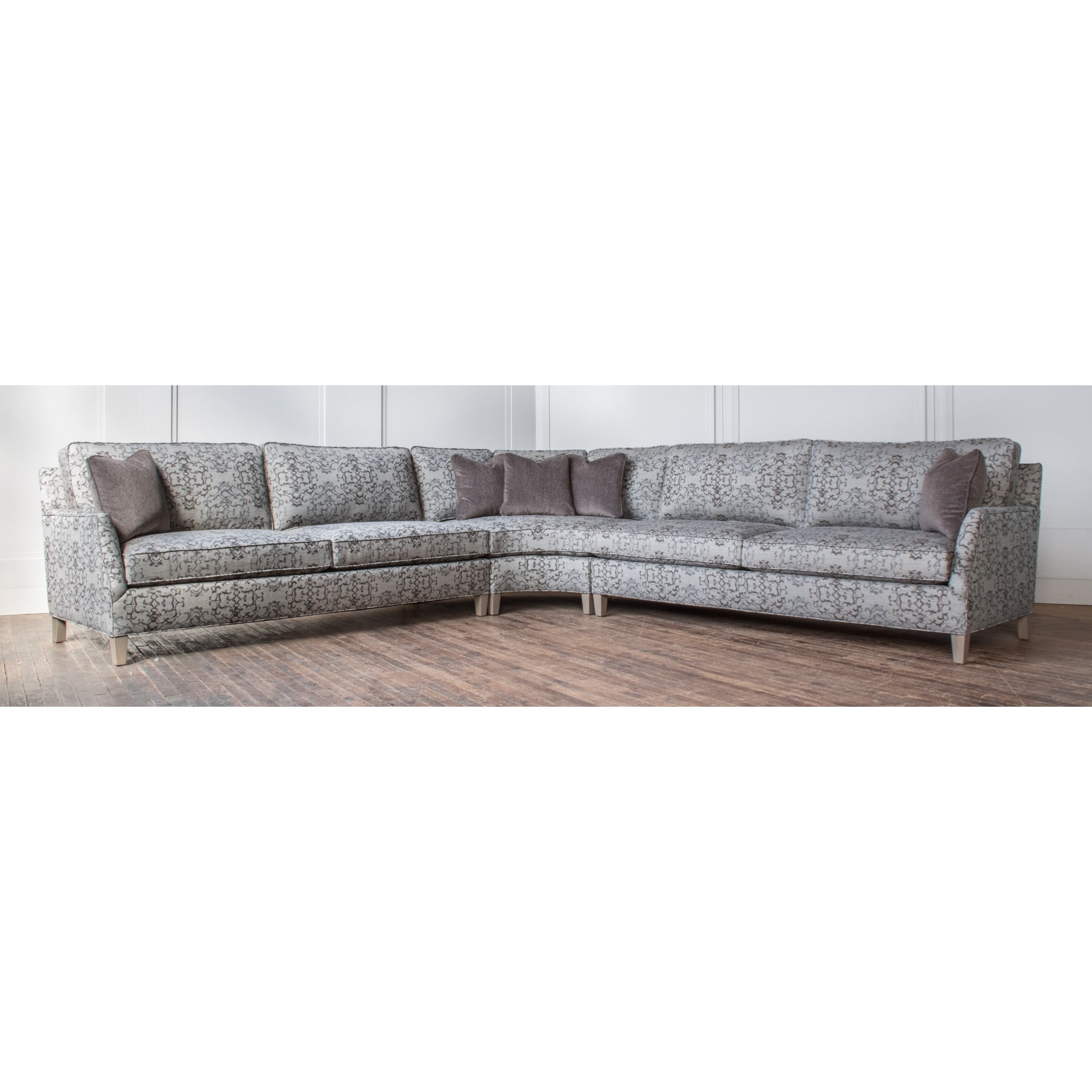 Wondrous Hallagan Furniture Brighton Customizable Curved Sectional Short Links Chair Design For Home Short Linksinfo