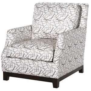 Hallagan Furniture Mansfield Customizable Contemporary Chair