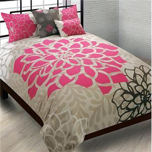Hallmart Collectibles Fern Orchid Full/Queen 7 Piece Bedding Set