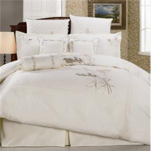 Hallmart Collectibles Fern Orchid Empress 10 Piece King Comforter Set