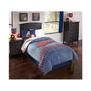 Hallmart Collectibles Fern Orchid Home Run 5 Piece Twin Comforter Set