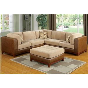 Hamilton U0026 Spill Dallas Country Styled Sectional Sofa With Contemporary  Furniture Elements