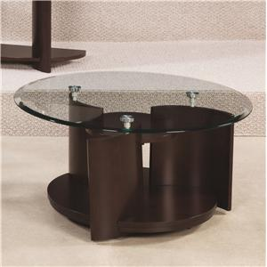 Morris Home Furnishings Apex Round Cocktail Table