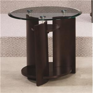 Morris Home Furnishings Apex Round End Table