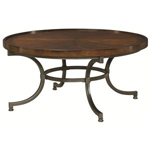 Morris Home Furnishings Barrow Round Cocktail Table