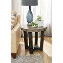 Hammary Beckham Contemporary Round Accent Table with Two-Tone Finish