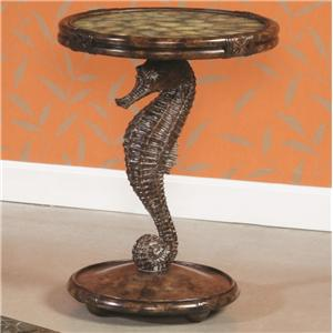 Morris Home Furnishings Boracay Seahorse Round Accent