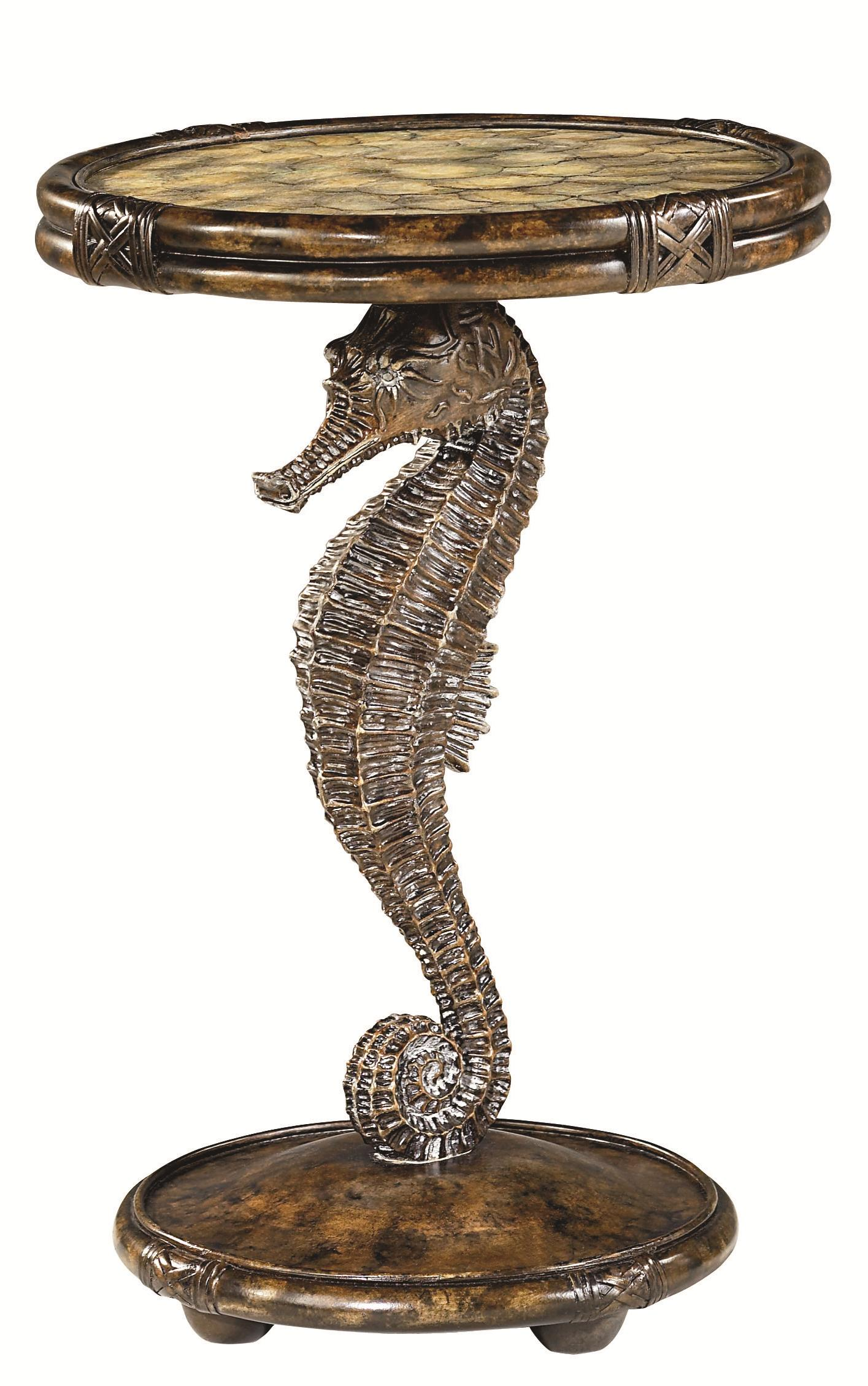 Hammary Boracay Seahorse Round Accent Table - Item Number: 110-916
