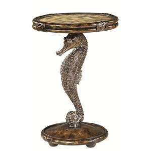 Morris Home Furnishings Boracay Seahorse Round Accent Table