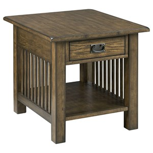 Hammary Canyon II Rectangular Drawer End Table