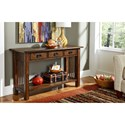 Hammary Canyon II Mission Sofa Table with Three Drawers
