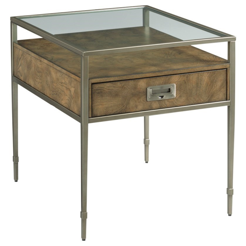 Carlton Rectangular End Table by Hammary at Jordan's Home Furnishings