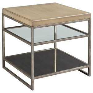 Hammary Centre Point Mixed Media Square End Table
