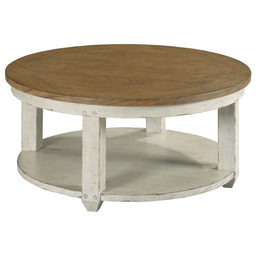 Chambers Round Coffee Table by Hammary at Johnny Janosik