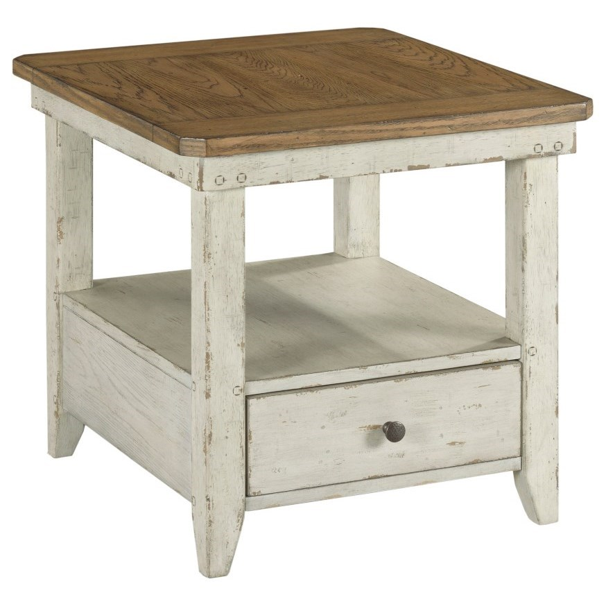 Chambers Rectangular Drawer End Table by Hammary at Johnny Janosik