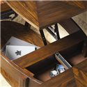 Hammary Concierge Oval Lift-top Cocktail Table - Storage Compartments Beneath Table Top