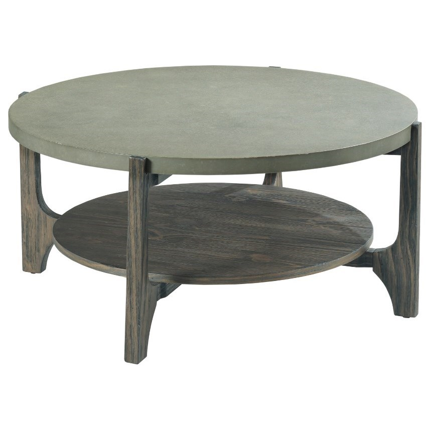 Delray Round Coffee Table by Hammary at Johnny Janosik
