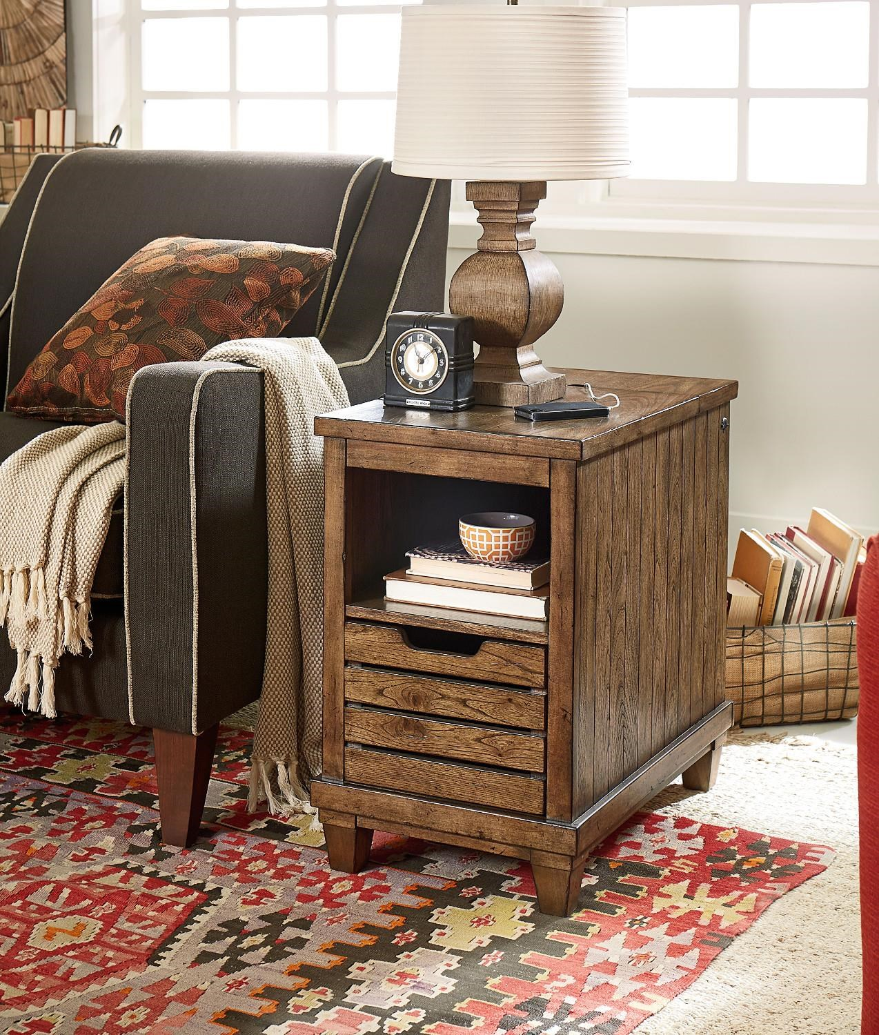 Morris Home Easter View Easter View Chairside Table w/Charging - Item Number: 811303824