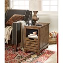 Hammary Elm Ridge Rustic Charging Chairside Table With USB and Outlet