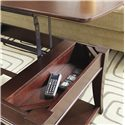 Morris Home Furnishings Enclave HAM Rectangular Lift Top Cocktail Table - Lift Top Opens to Reveal Further Storage
