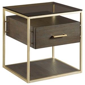 Rectangular Drawer End Table