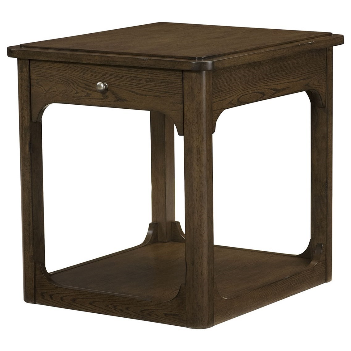 Facet Rectangular Drawer End Table by Hammary at Stoney Creek Furniture