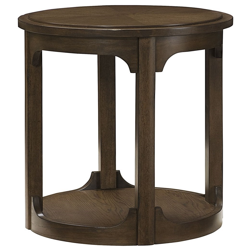 Hammary Facet Round End Table - Item Number: 438-916