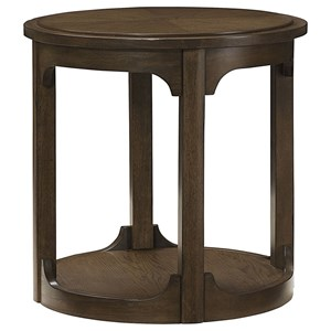 Morris Home Furnishings Facet Round End Table